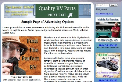 RV Ad Samples Page